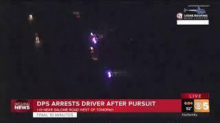 Suspect in custody following pursuit west of Tonopah