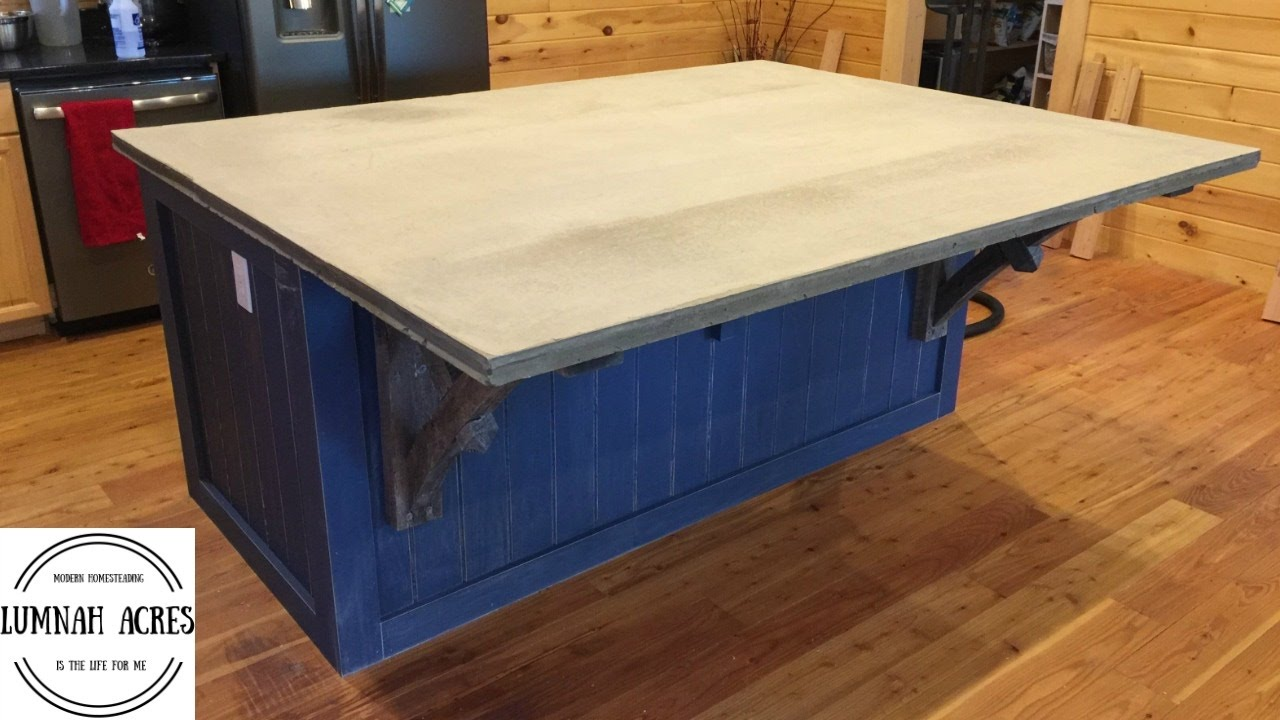 How to Make Concrete Counter Tops Part 3 - YouTube