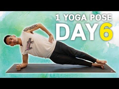 ฝึกโยคะ 1 ท่า (เกือบ) ทุกวัน Day6 Side Plank   โยคะเบื้องต้น kiartyoga