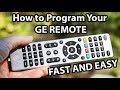 Programming Your GE Universal Remote Control to ANY Device