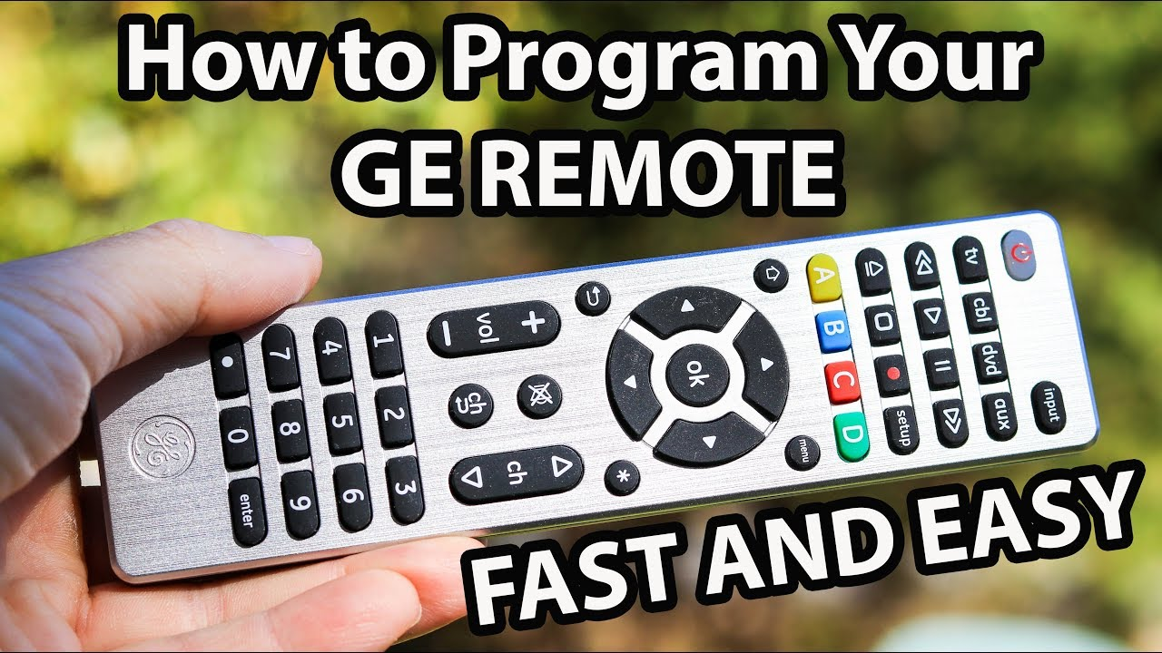 programming your ge universal remote control to any device youtube