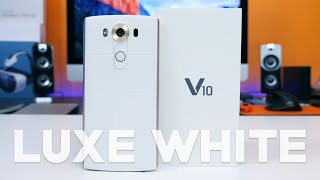 LG V10 Exclusive Luxe White Unboxing & Hands-on (Verizon)
