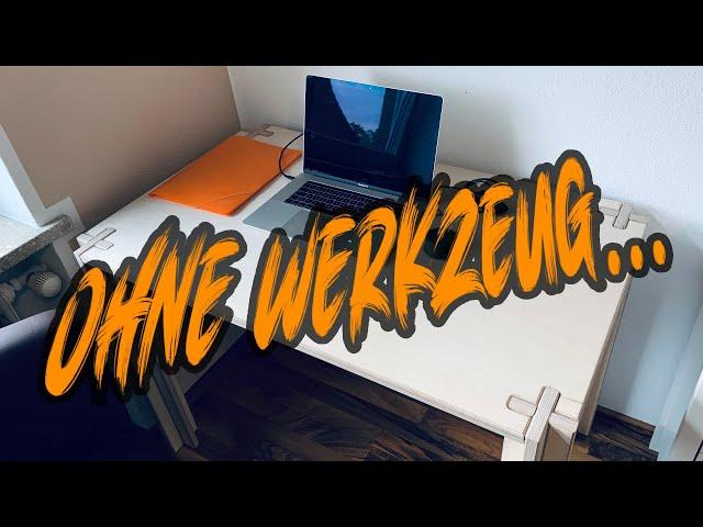 Mobiler Schreibtisch aus Multiplex für Homeoffice oder auf Montage | Lets do it