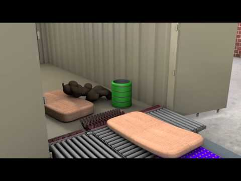 RobLog Advanced Animation Scenario Milestone 4 Depicting Unloading Scenarios of Shipping Containers
