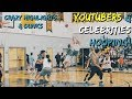 EPIC GAME HOOPING W/ FAMOUS YOUTUBERS AND CELEBRITIES!! - ISA Charity Basketball Game