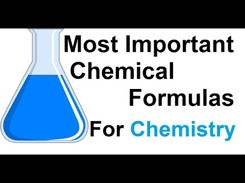 Most Important Chemical Formulas For Chemistry