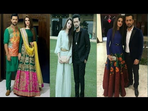Beautiful Pictures Of Atif Aslam With Her Wife Sara| They are Outfits Dress Collection|