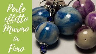 Tutorial: Perle Effetto Marmo in Fimo (polymer clay marble effect beads)