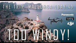 *4k UHD* TOO WINDY for DJI Mavic Pro Drone !! Day 4 VLOG Mallorca
