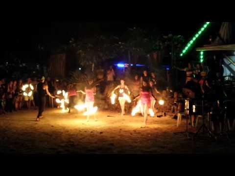 Sunset Beach Resort, Samal Island - Fire Show