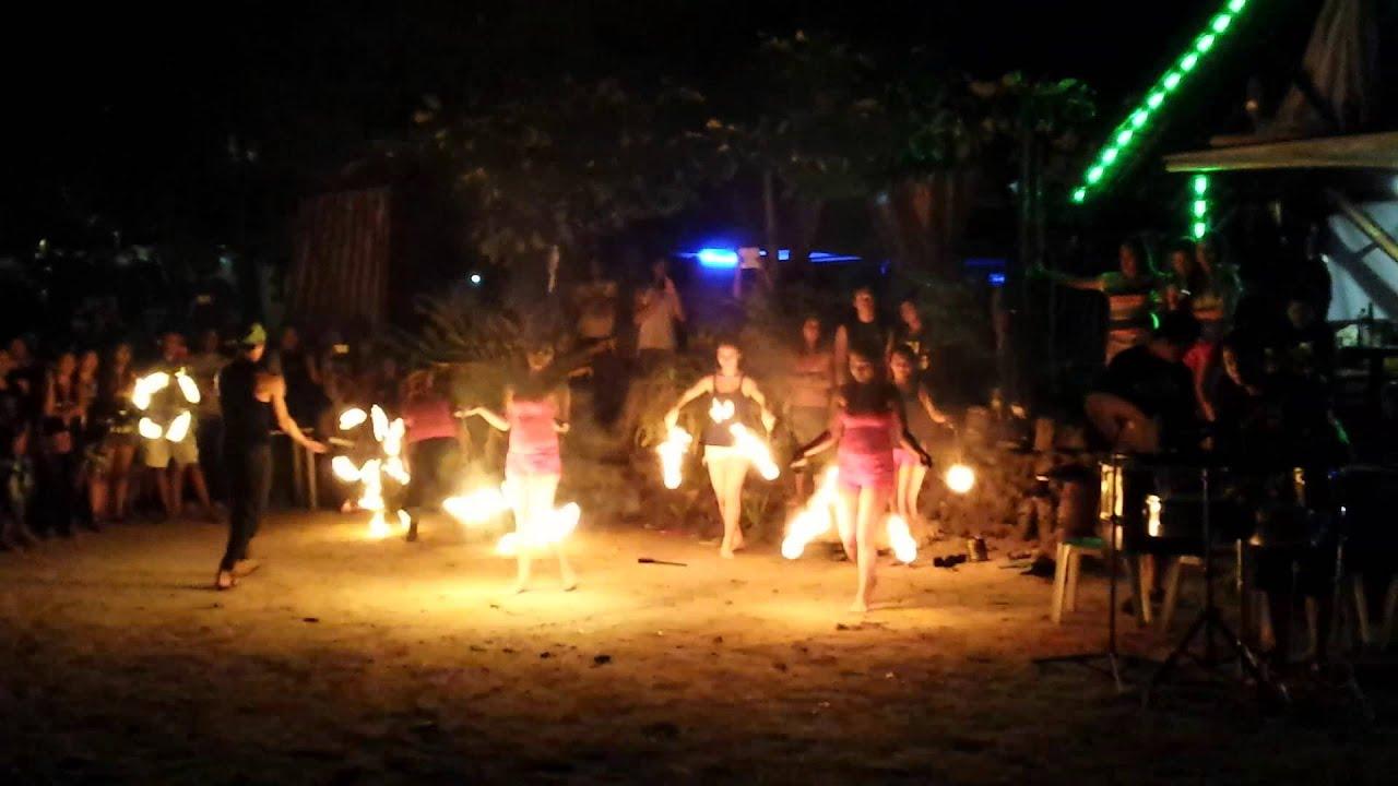 Sunset Beach Resort Samal Island Fire Show Youtube