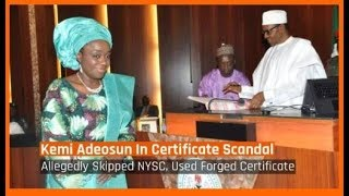 Nigeria News Today: Finance Minister Kemi Adeosun Skips NYSC, Forges Certificate (07/07/2018)
