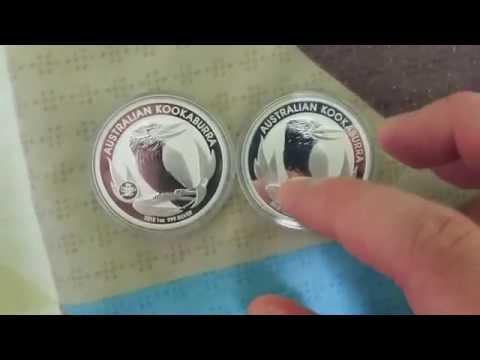 Kookaburra Perth mint bullion complete set from 1990-2015