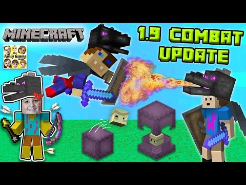 Thumbnail: ENDER FIGHTERS? WHAT THE SHULKER? Minecraft 1.9 Combat Update! (FGTEEV Dad vs. Sons Battle)