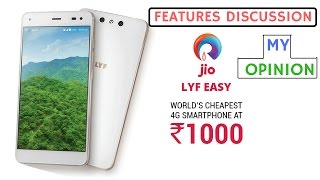 New Jio Lyf Easy Smartphone only for Rs.999/- [My Opinion]