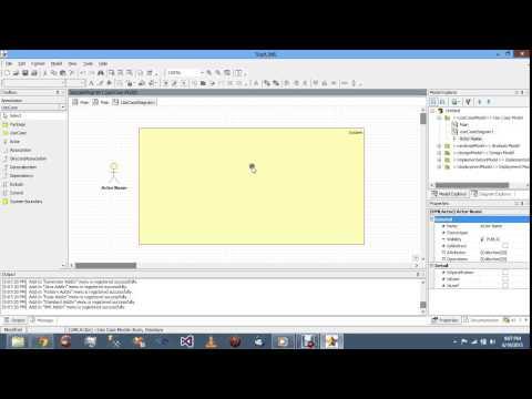 Create Use Case Diagram in Star UML - YouTube