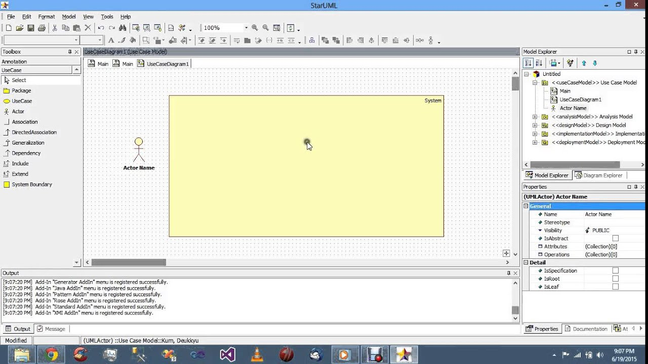 Create use case diagram in star uml youtube create use case diagram in star uml ccuart Choice Image