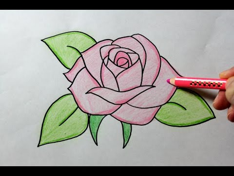 Easy Drawing Of A Rose