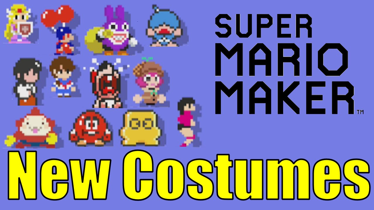 All 12 NEW Mario Maker Costumes ANIMATIONS from 100 Mario Challenge  (Normal, Expert, Super Expert)