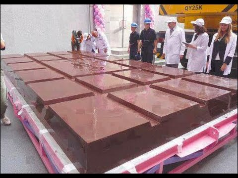 BIGGEST CHOCOLATE BAR IN THE WORLD?!? (taste test) - YouTube