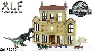 Lego Jurassic World 75930 Indoraptor Rampage at Lockwood Estate - Lego Speed Build Review