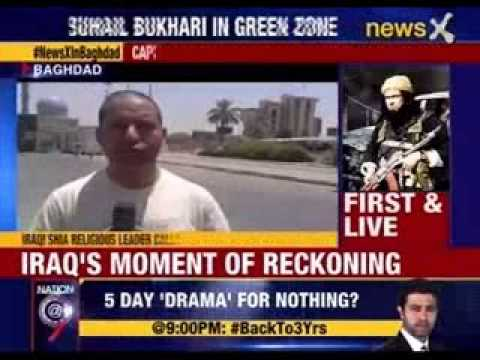 NewsX first & live from Baghdad