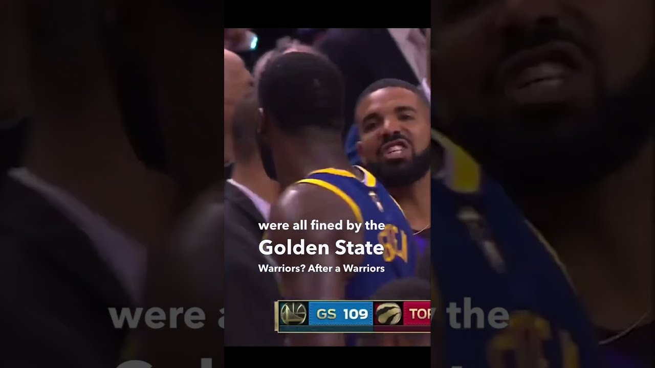 Drake, Steph Curry, and Draymond Green fined by the Warriors! #shorts