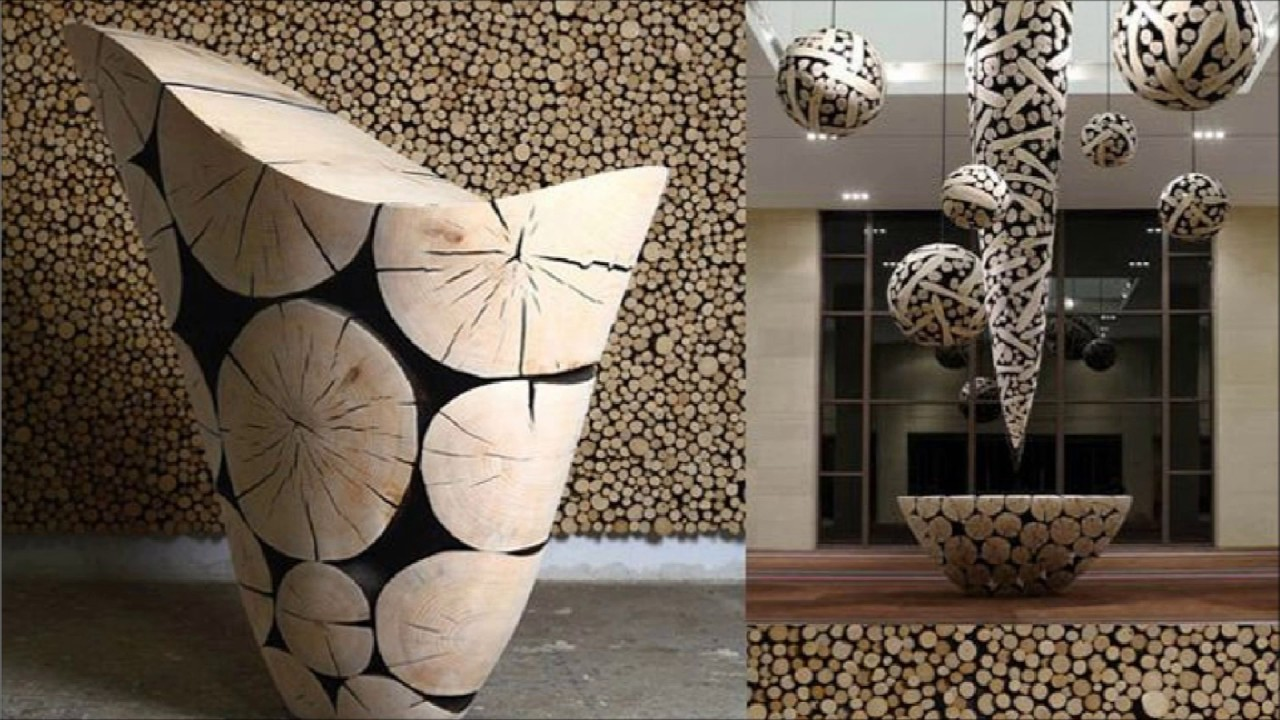 Top 10+ Creative Project Ideas Using Wood Slices and Logs - YouTube