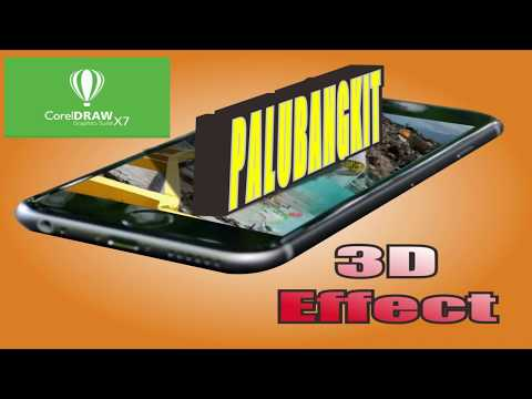 effect 3D di CorelDraw X7 tulisan 3D di CorelDraw X7 tutorial CorelDraw #palubangkit #palukuat