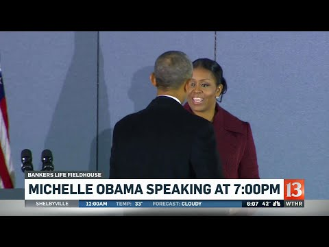 Michelle Obama visits Indianapolis