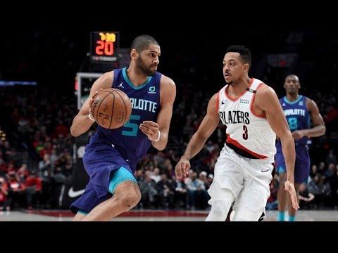 McCollum 30 Pts! Blazers Score 70 1st Half Hornets! 2018-19 NBA Season