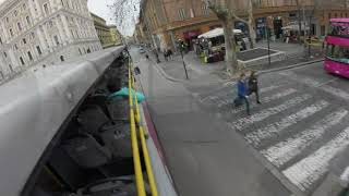 Hop-On Hop-Off Bus in Rome Italy March 2018
