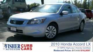 2010 Honda Accord LX - 31 MPG HWY - Certified - Fisher Auto (Stock #P6613)