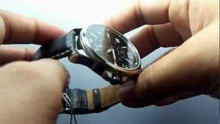 Bulova 96B135 Mens leather black