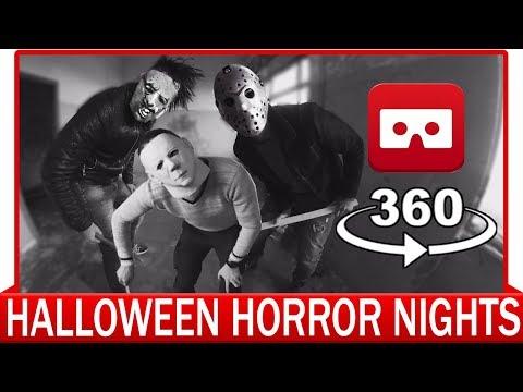 360° VR VIDEO - Halloween Horror Nights - Fright Nights - Jason, Leatherface, Michael Myers