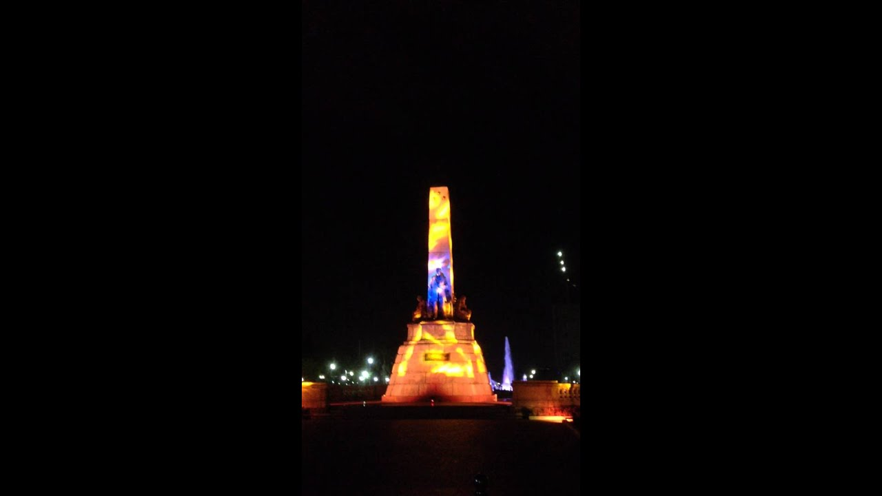 Manila Rizal Park Light and Sound Display