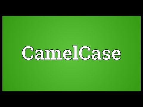 CamelCase Meaning