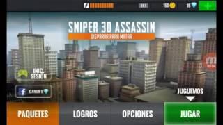 Mi primera vez jugando  sniper 3D assasin