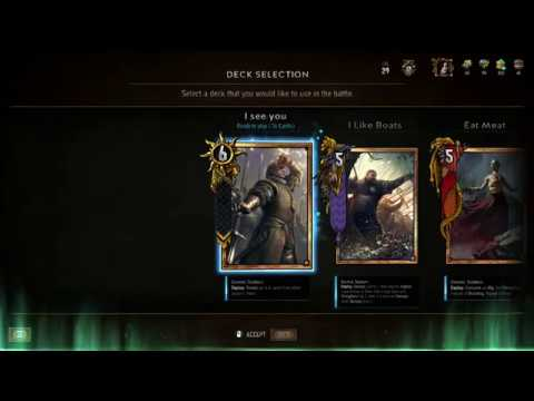 GWENT®: The Witcher Card Game - I SEE YOU. My first Nilfgaardian deck.