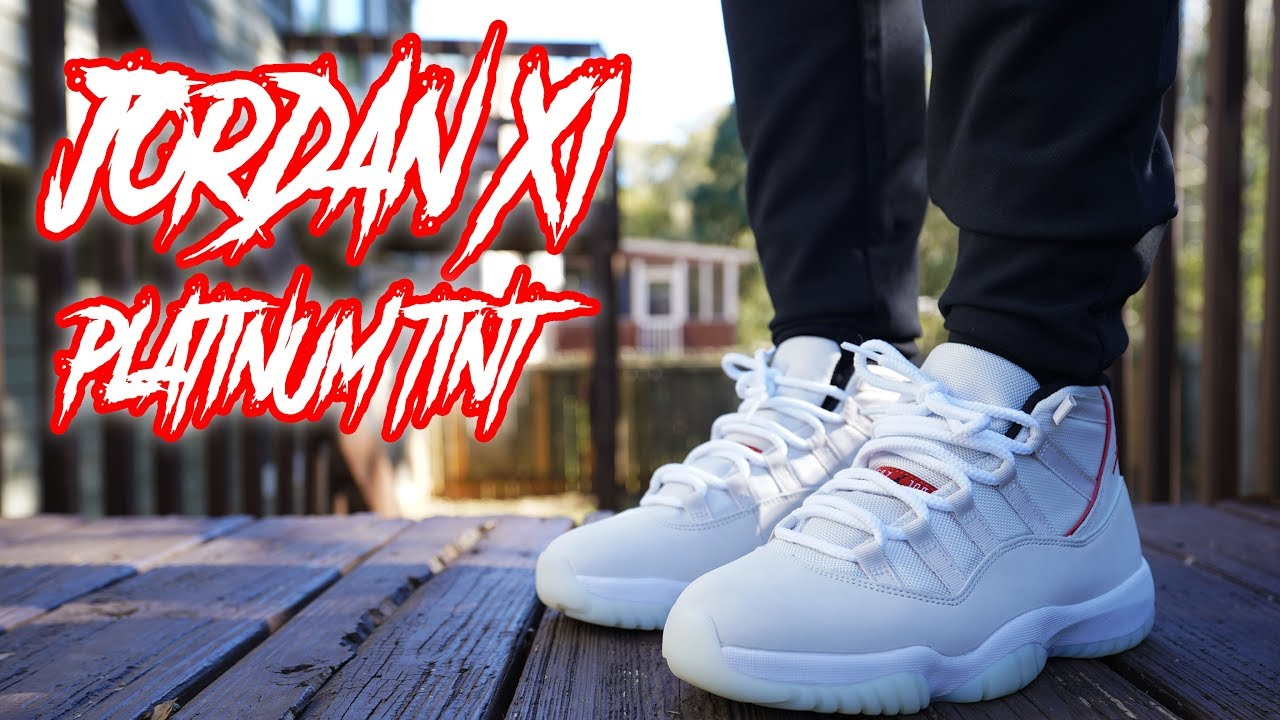f02826f63b3 JORDAN 11 PLATINUM TINT REVIEW AND ON FOOT 4K - YouTube