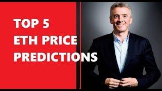 TOP 5 Ethereum ( ETH  ) Price PREDICTIONS  - 2019