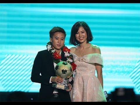 Tuyết Dung được xướng tên nhận Quả Bóng Vàng nữ Việt Nam 2018