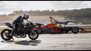 Kawasaki Ninja H2R Vs F1 Car Vs F16 Fighter Jet  Vs Super-cars Vs PrivateJet Drag Race @Krrish FR