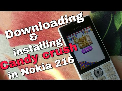 Downloading and installing Candy Crush saga in Nokia 216 (Nokia Phones) in Hindi.