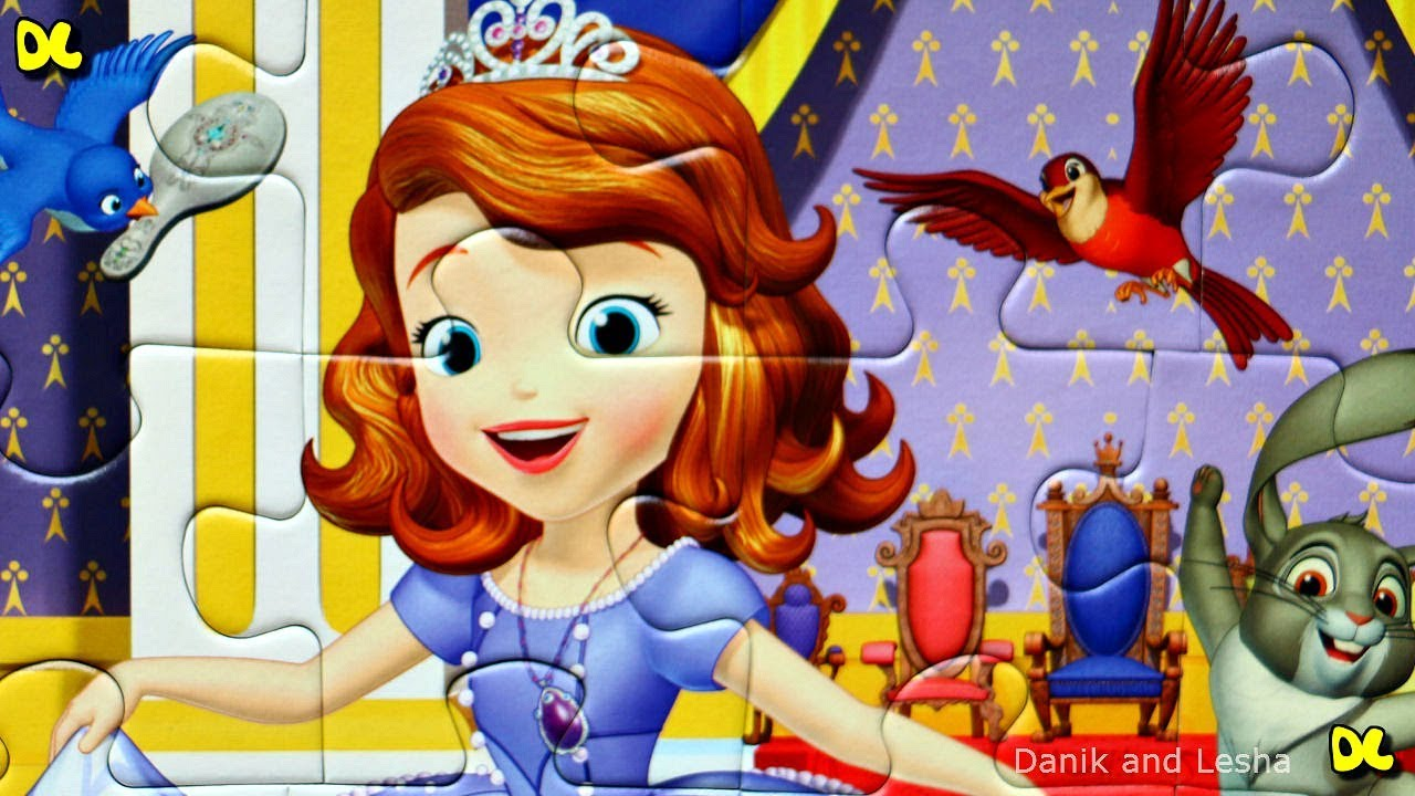 Принцесса София идет на Бал - собираем пазлы для детей ...