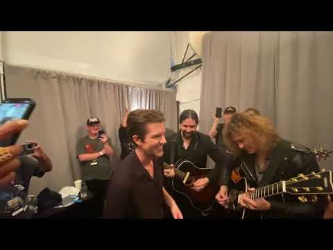 The Killers - Mr. Brightside (backstage at NYC Homecoming)