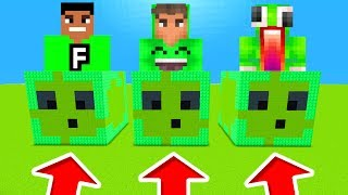 Minecraft PE : DO NOT CHOOSE THE WRONG SLIME! (Unspeakablegaming, FuzionDroid & Jelly)