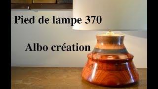 TOURNAGE PIED DE LAMPE EN BOIS DE PADOUK. N° 370.