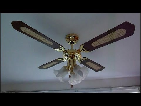 How to fit a ceiling fan UK   YouTube