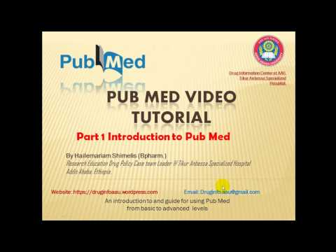 PubMed  Tutorial Part 1 in Amharic: የPubMed  መማርያ ቪድዮ ክፍል 1